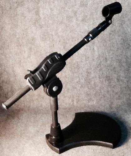 pedestal microfone de mesa mini girafa c/ cachimbo