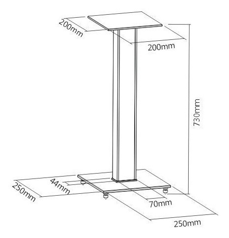 pedestal p/ sony muteki home theater bookshelf bs03l elg