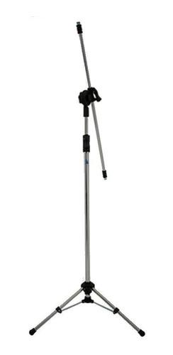 pedestal para 2 microfone dobrável cromado pe3cr - visão