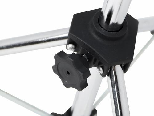 pedestal reto preto visão p/ prato de bateria ou carrilhão