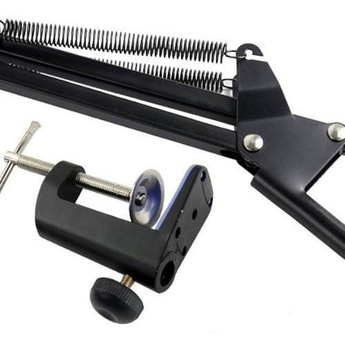 pedestal suporte mesa articulado p/ microfone studio rádio