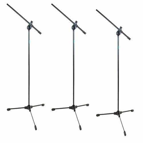 pedestal suporte para microfone ask tpl  kit 3 peças