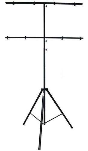 pedestal tripe para iluminação profissional dj duplo em t t