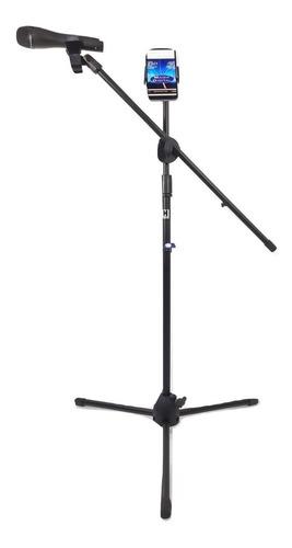 pedestal tripie  microfono con boom p/ tablet y cel kst-112
