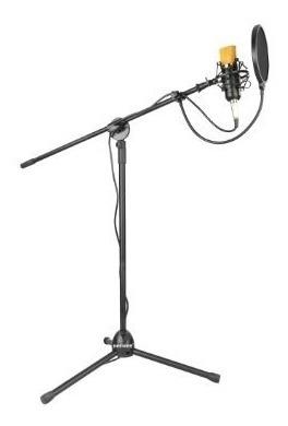 pedestal tripoide con filtro  microfono