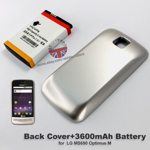 pedido  bateria x lg optimus m ms690 de 3600mah+tapa de bate