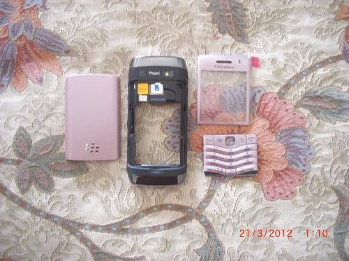 pedido: carcasa original completo blackberry 9100 rosado