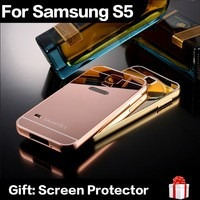 pedido case luxury golden metal galaxy s5 ultra slim