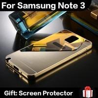 pedido case luxury golden metal note 3