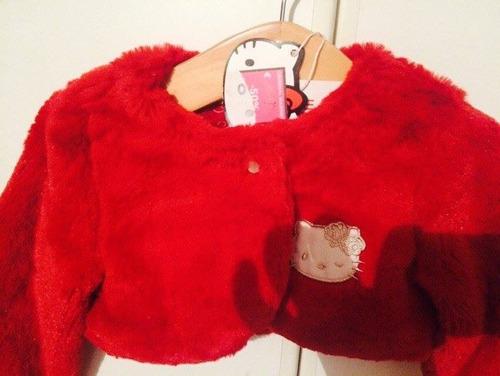 pedido  chompitas invernales hello kitty 1/2/3 anos rojo