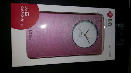 pedido  estuche  original 100%  lg g3 rosado sellado