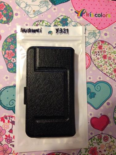 pedido estuche protector flip  cover huawei y320 y321
