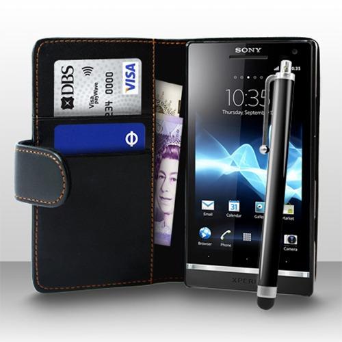 pedido estuche sony xperia s lt26i & stylus pen + protector