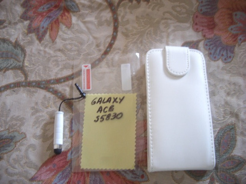 pedido estuche+stylus+ protector pantalla galaxy ace blanco