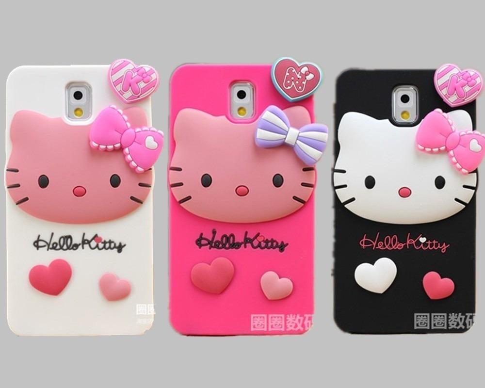 Pedido lindos estuches protectores hello kitty note 3 s for Protectores 3d para celular