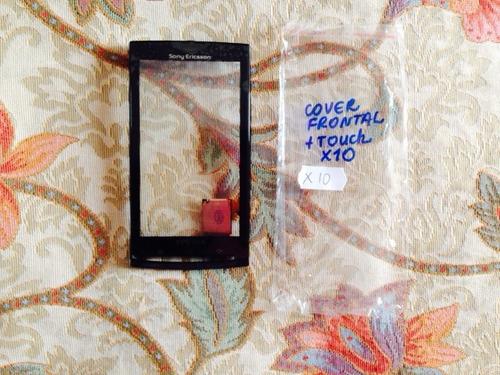 pedido: pantalla tactil +carcasa frontal xperia x10+tapa de