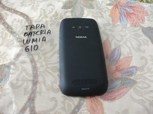 pedido tapa bateria original lumi 610 negro