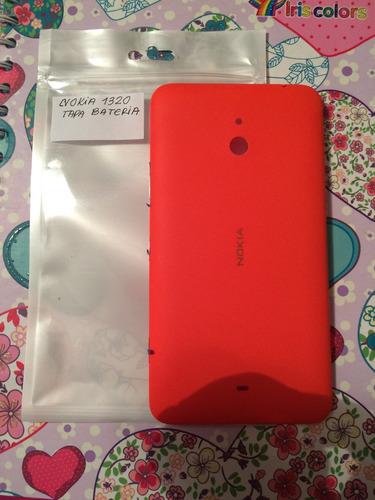 pedido tapa de bateria original nokia 1320 rojo