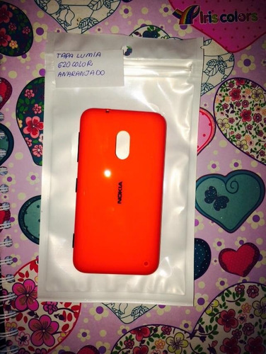 pedido tapa de bateria original nokia lumia 620 anaranjado
