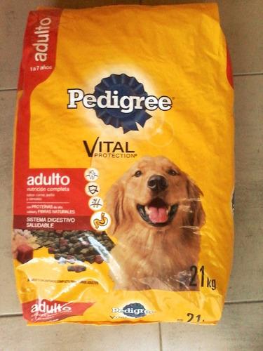 pedigree adulto carne pollo cereal o carne y vegetal x 21kg