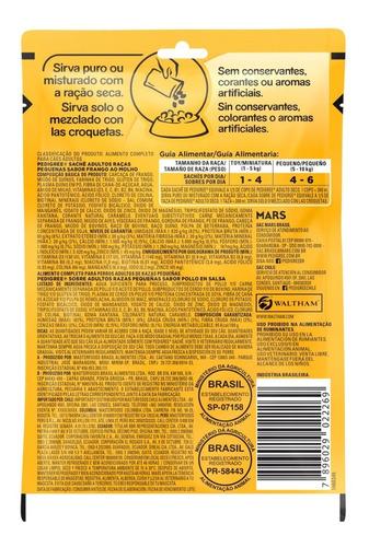 pedigree alimento humedo perros r pequeñas x7 sobres