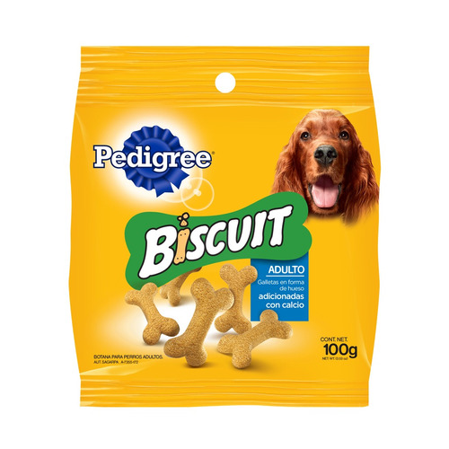 pedigree biscuit galleta perro adulto botana 100gr premios