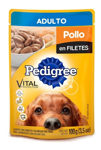 pedigree perro adulto pouch sobre pollo en filete 100gr