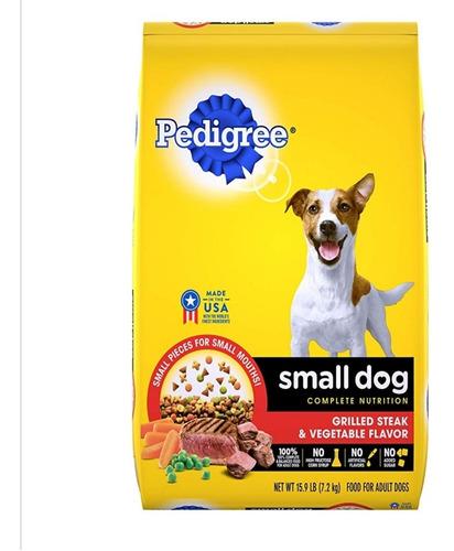 pedigree small dog. alimento para perros razas pequeñas