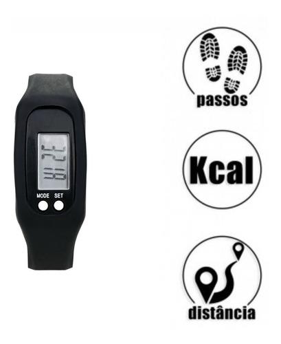 pedômetro digital aparelho musculação 2 pçs contador passos km caloria relógio corrida caminhada cooper promoção barato