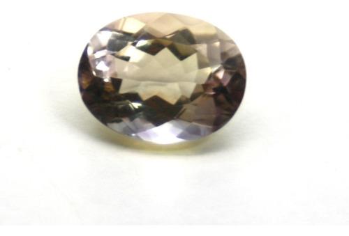 pedra ametista bicolor natural com 11klt p270