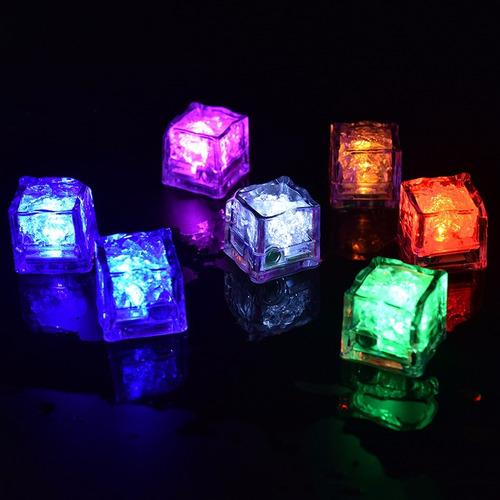 pedra cubo gelo led jogo luzes coloridas iluminaçao festa dj