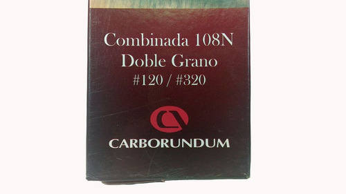 pedra de afiar facas combinada dupla face carborundum 108n