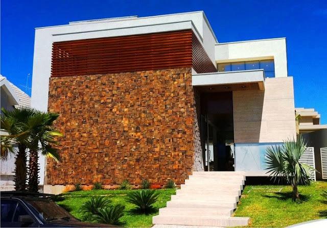 Pedra ferro revestimento fachada etc r 119 00 em for Fachadas de casas modernas 1 pavimento