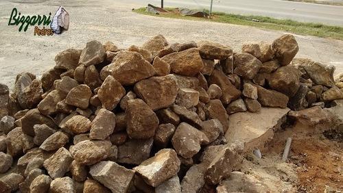 pedra moledo para muro - frete a parte - valor tonelada