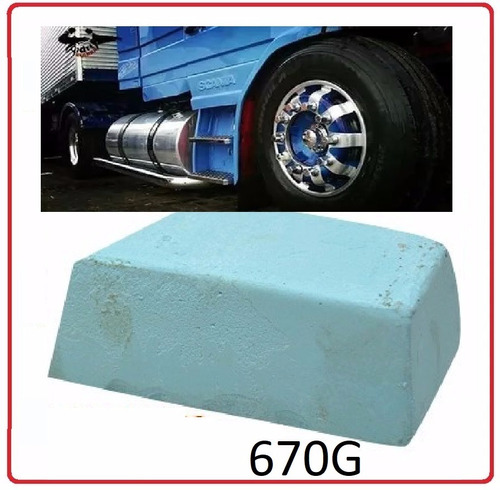 pedra polirl polimento tanque roda aluminio cromado + brinde