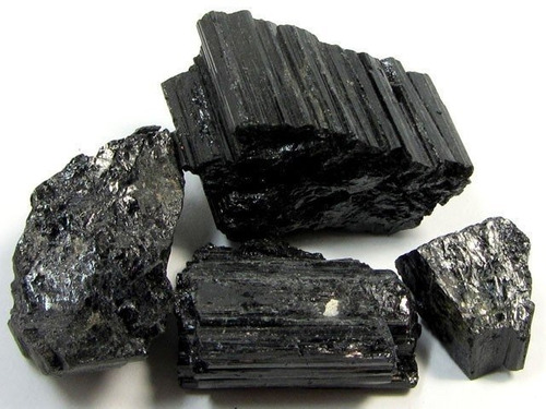 pedra turmalina negra 500g cristal mineral natural oferta