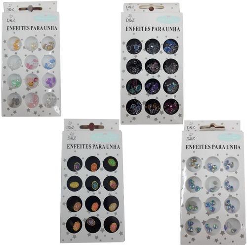 pedrarias d&z decoração kit c/ 4 caixas salão manicure