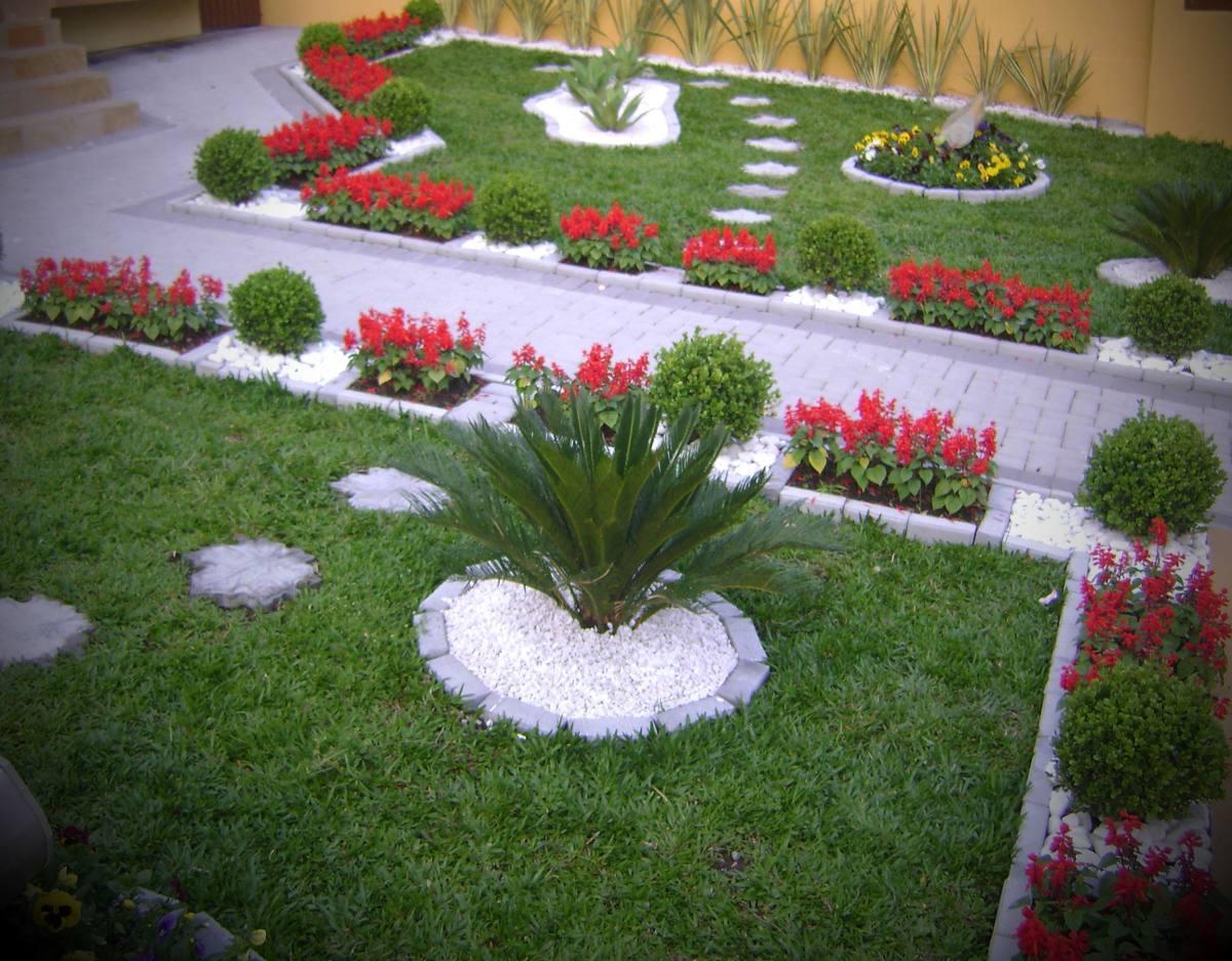 Pedras branca de decora o de jardim trios vasos 12107 r - Jardin decorado ...