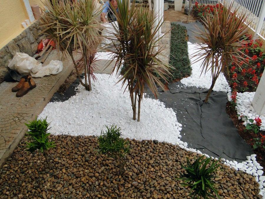 Pedras Branca Para Decoraç u00e3o De Jardim Trios Vasos 12120 R$ 12,99 em Mercado Livre -> Decoração De Jardim Com Vasos E Pedras