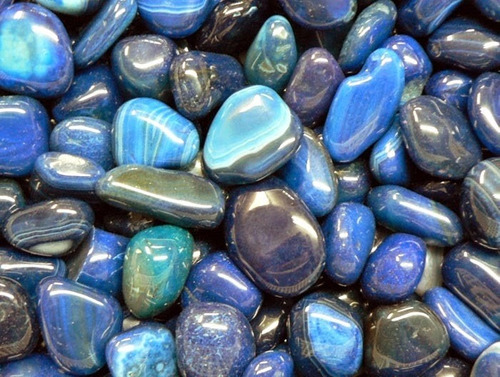 pedras brasileiras mistas roladas 1kg - 100 uni atacado