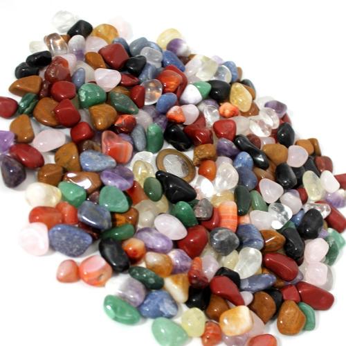 pedras brasileiras roladas mistas pequenas 1kg + brinde