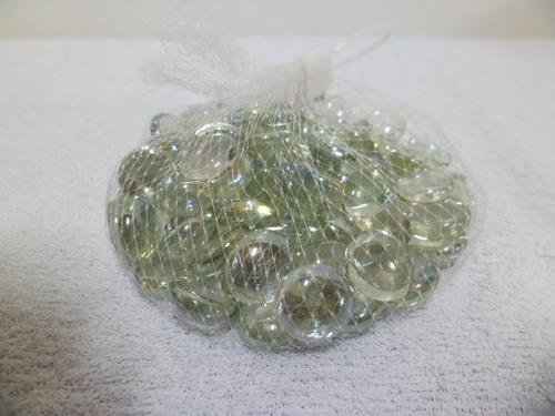 pedras gemas vidro transparente - kit c/ 65 a 68 un