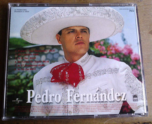 pedro fernandez cd picture disc especial promosingle 6 temas