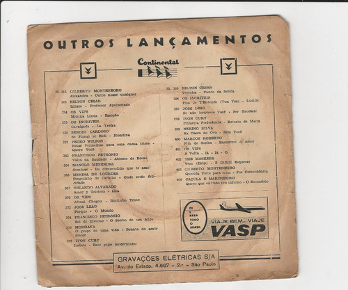 pedro wilson - ouça/ aqueles beijos - compacto ep 14
