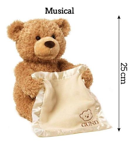 peek a boo urso ted musical pelúcia canta mexe animado