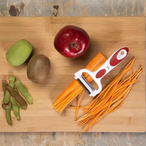 peeler descascador de frutas e legumes 3 em 1 - prana