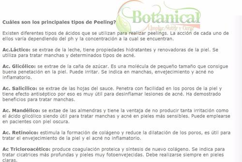 peeling acido lactico 50% original - manchas - arrugas