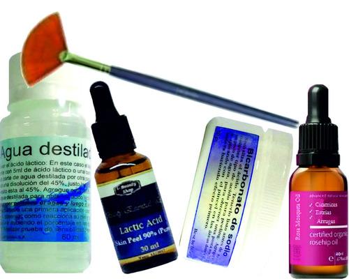 peeling acido lactico borra manchas,arrugas, piel luminosa.