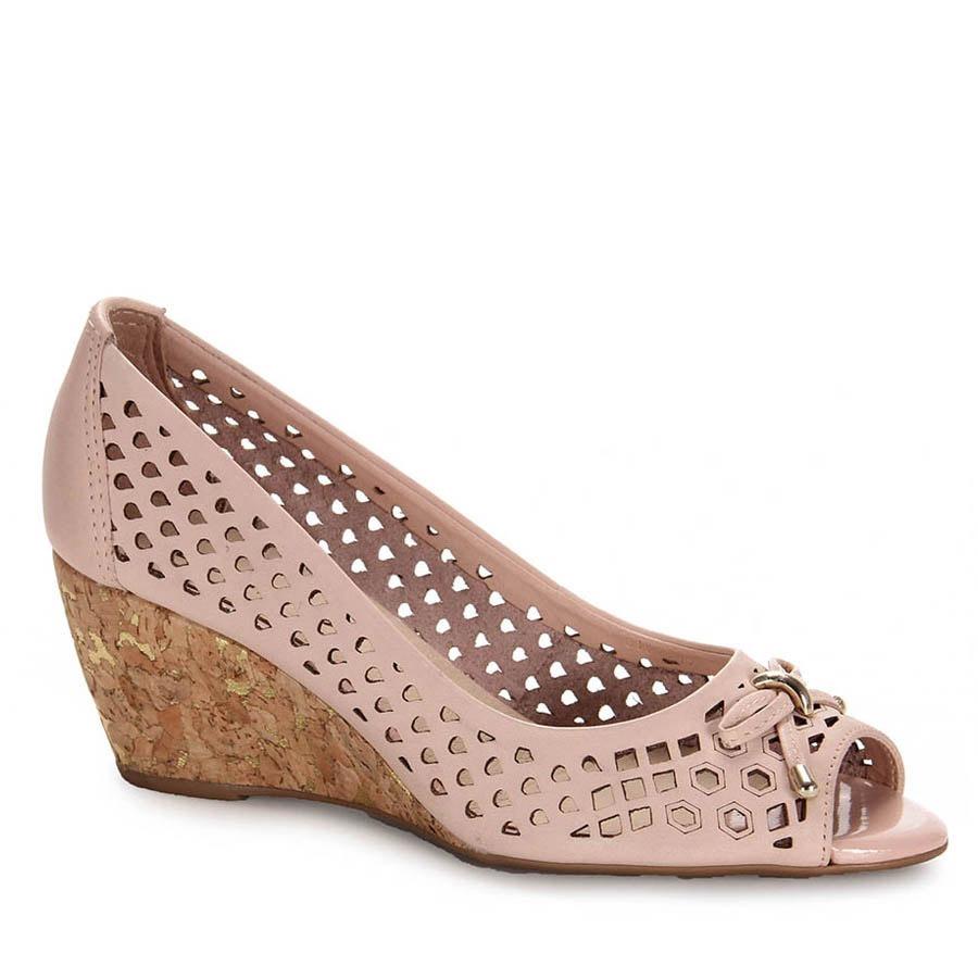 545c57649 Peep Toe Anabela Feminino Bottero - Rosa - R$ 159,99 em Mercado Livre