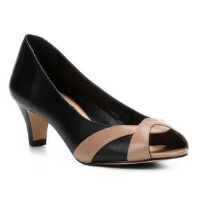 250c37b18 Peep Toe Bicolor Mr Cat Sapatos Femininos Feminino - Sapatos no ...